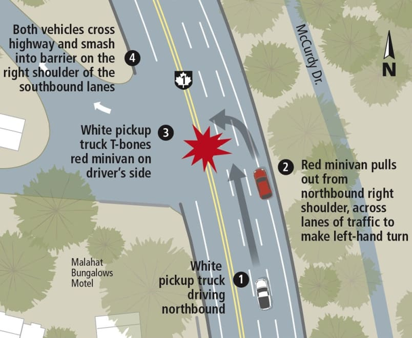 How a dangerous left turn left to tragedy on Malahat